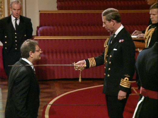 Sir Martin receives his Knighthood 2nd November 1995 by Prince Phillip