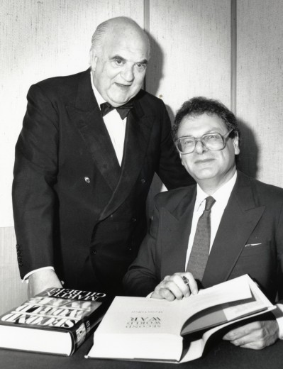 Sir Martin with the publisher Lord Weidenfeld, Second World War,1989.